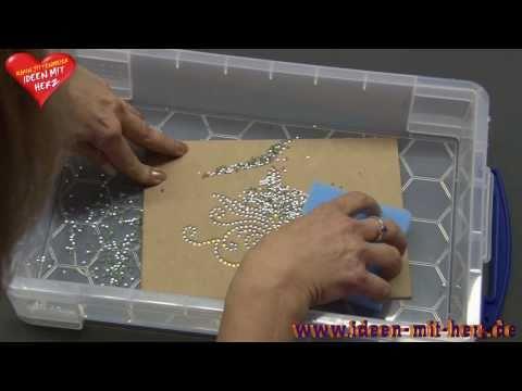 Ideen mit Herz - Textilgestaltung mit Strass-Schablonen