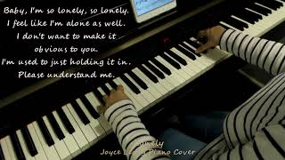 Jonghyun(종현) - Lonely (ft.Taeyeon(태연)) - Piano cover with English Translation.