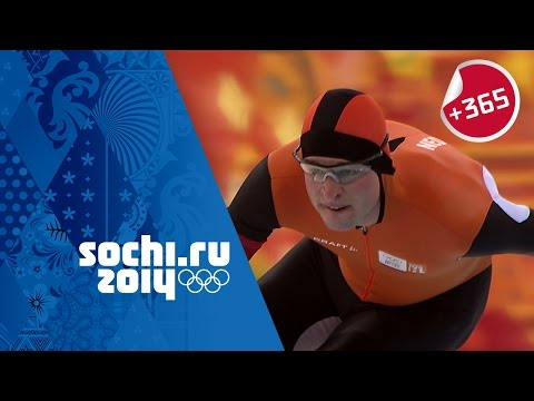 Men's Speed Skating 5000m Full Event – Kramer Sets Olympic Record | #Sochi365