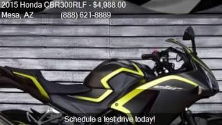 10. 2015 Honda CBR300RLF  for sale in Mesa, AZ 85202 at AZautorv