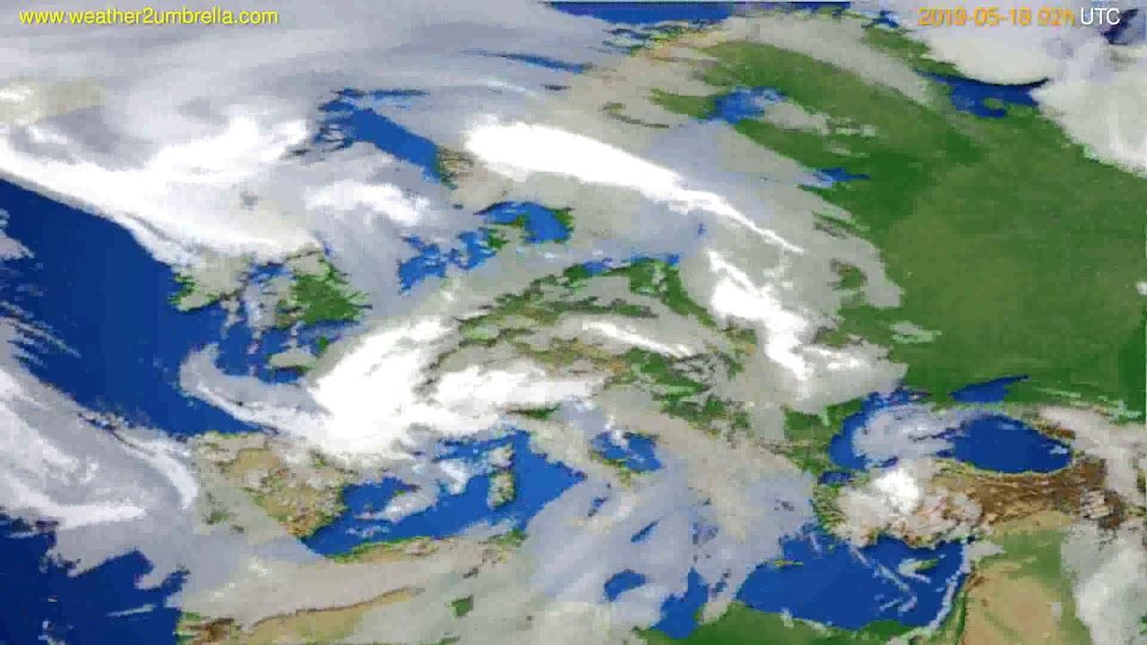 Cloud forecast Europe // modelrun: 00h UTC 2019-05-17