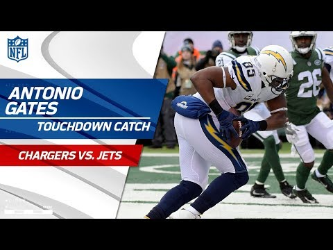 Video: Antonio Gates' Clutch Grab Caps Off TD Drive vs. NY! | Chargers vs. Jets | NFL Wk 16 Highlights