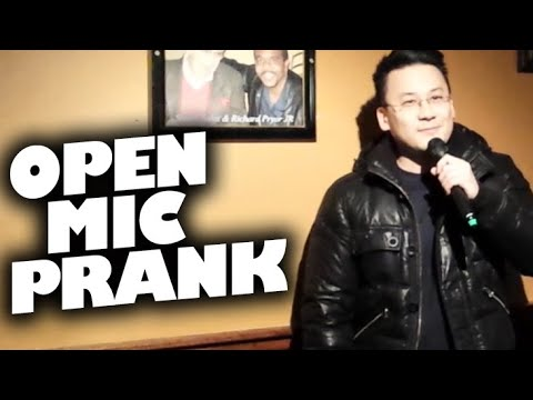 Pretending to do comedy for first time at open mic (uncensored)