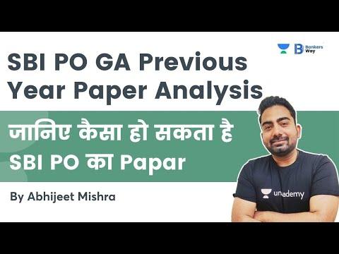 SBI PO GA Previous Year  Paper Analysis | Abhijeet Mishra | Bankers Way