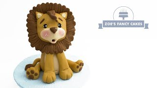 Super cute Lion Cake topper tutorial. Animals, wildlife, nature, the great outdoors.