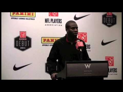 Prince Amukamara Holds Post Draft Presser at NFLPA Rookie Debut