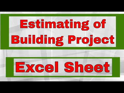 Estimating and Costing of Building Project by Excel Sheet | HAMID Sir
