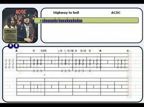 "learn guitar with ""highway to hell"""