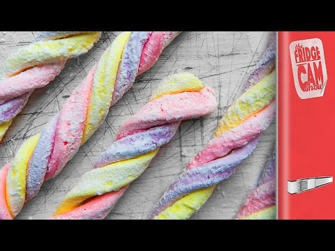 Download DIY RAINBOW MARSHMALLOW TWISTS | FridgeCam HD Mp4 3GP Video and MP3