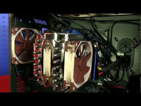 LinusTechTips - H100i vs H80i vs Silver Arrow Extreme. Slim dual radiator, thick single rad, and dual tower heatpipe coolers are all in the same