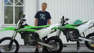 10. Kawasaki kx85 2015 low and high. Unboxing and start up