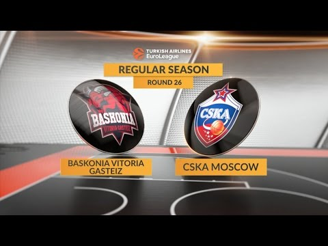 EuroLeague Highlights RS Round 26: Baskonia Vitoria Gasteiz 79-78 CSKA Moscow