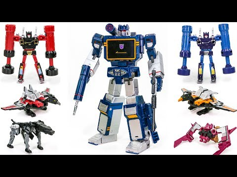 Transformers MasterPiece Mp 13 SOUNDWAVE KO THF Sonicwave Casseticon Transform Robot Toys