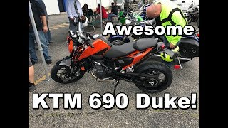 1. 2017 KTM 690 Duke Review - Test Ride