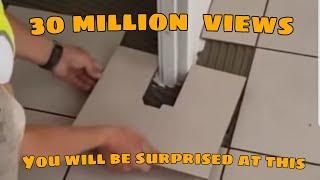 Jak idealnie dopasować płytkę do futryny bez użycia miarki?