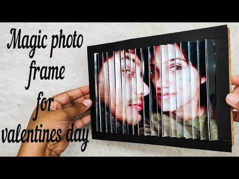 How to make magic photo frame for valentines day | photo changing gift | valentines day gift ideas