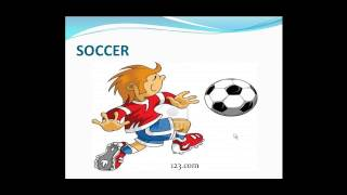 ENGLISH VOCABULARY  FOR CHILDREN SPORTS