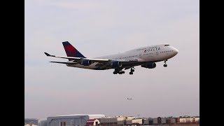 The last Delta 747 airrval, DTW.