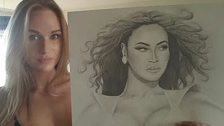 ASMR DRAWING BEYONCE (soft spoken/whisper/drawing/tapping/sticky)