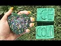 CRUSHING WET VS DRY FLORAL FOAM AND GUESS THE COLOR GLITTER FOAM SATISFYING ASMR