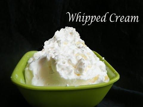 Homemade Whipped Cream In Just 3 Minutes !!!!