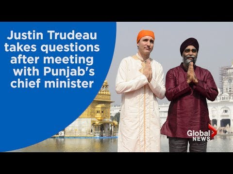 Justin Trudeau speaks after meeting with Punjab leader over Sikh seperatism