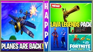 *NEW* Fortnite Update: Leaked LAVA Legends Pack, Planes Confirmed, BIG Update Soon!
