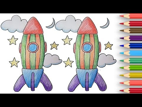 how to draw a rocket youtube