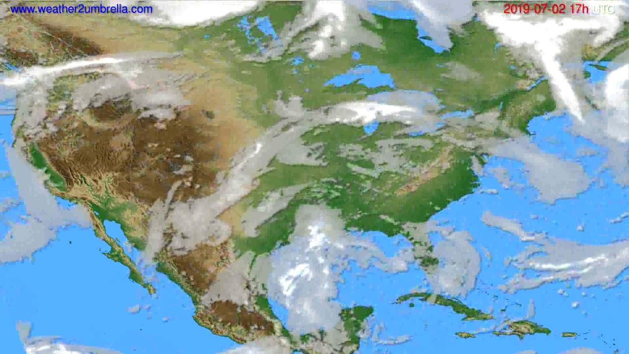 Cloud forecast USA & Canada // modelrun: 00h UTC 2019-07-01