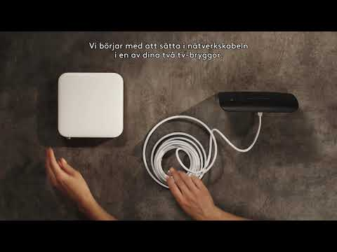 Installera Com Hem Tv Hub via IP-TV och tv-brygga
