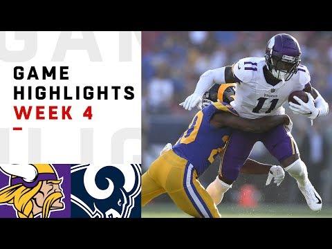 Video: Vikings vs. Rams Week 4 Highlights | NFL 2018
