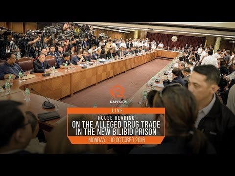 LIVE: House hearing on alleged Bilibid drug trade, 10 October 2016