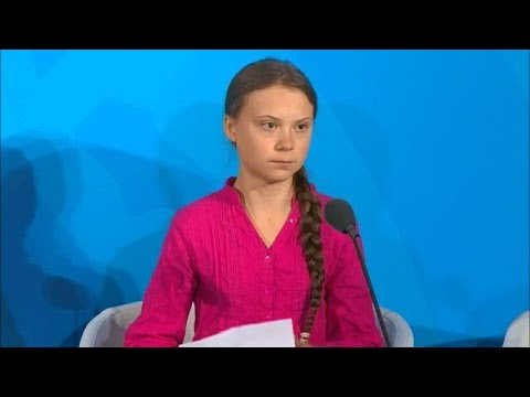 Greta Thunberg (Young Climate Activist) at the Climate Action Summit 2019