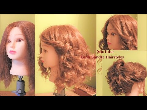 Curly hairstyles - How to curl your hair with Flat Iron & Hairstyle with curls  How to wavy your hair with Flat Iron