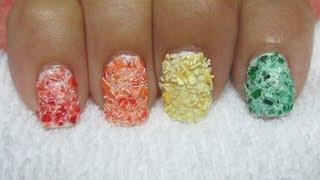 Egg Shell Mosaic Nail Art - YouTube