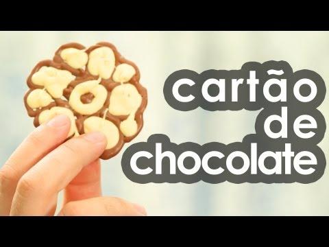 Imagens de feliz páscoa - Cartão de chocolate (presente para Dia dos namorados e Páscoa) (receita)