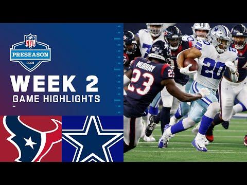 Houston Texans vs. Dallas Cowboys   Preseason Week 2 2021 NFL Game Highlights