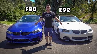 BMW M3 HEAD TO HEAD REVIEW! F80 Vs E92 - Is The V8 Still King? by Vehicle Virgins