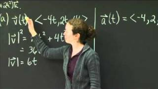 Parametric Curves: Velocity, Acceleration, Length | MIT 18.02SC Multivariable Calculus, Fall 2010
