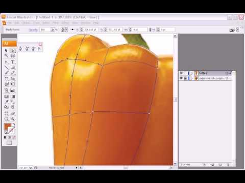 Illustrator Mesh Tool quick tutorial