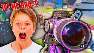 Video LEVEL 1000 1v1 ANGRY TRASH TALKING LITTLE KID on BLACK OPS 3! (HE RAGED OFFLINE!) MP3, 3GP, MP4, WEBM, AVI, FLV Juni 2018