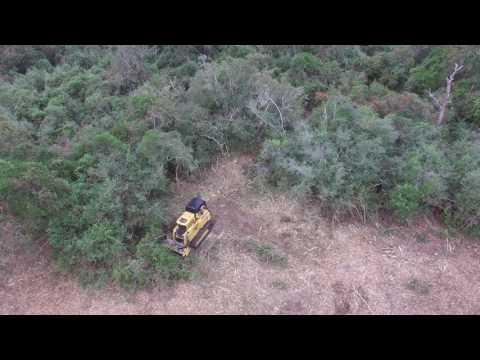 Rayco C100R Mulching in Texas by J&G Sales, INC