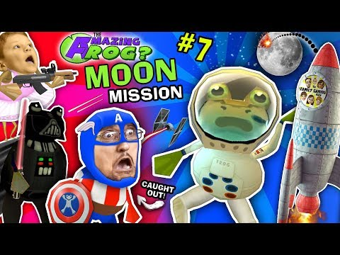 AMAZING FROG ASTRONAUT Space Moon Mission! FGTEEV Caught On Camera! Darth Vader Captain America Pt 7 (видео)