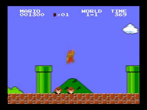 Super Mario Bros with modern sound effects
