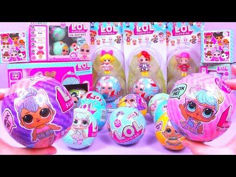 28 ЛОЛ ШАРОВ ОРИГИНАЛ или Китайская ПОДДЕЛКА Series 1 2 Lil Sisters ЛЕДИБАГ Fake LOL Dolls Surprise (видео)