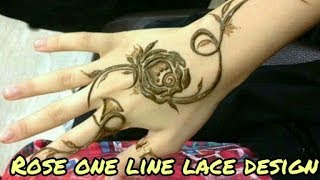 Nonton How to make | mehndi design - with Rose(one line lace mehndi design)| latest design 2017 Film Subtitle Indonesia Streaming Movie Download