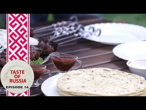 Grilled sheep's liver & Caucasian cheese in mountain paradise - Taste of Russia Ep.14 (видео)