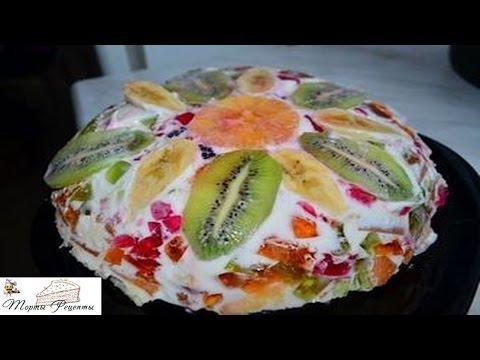 торт битое стекло рецепт с фото с крекером