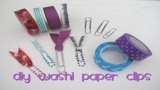 DIY Washi Paper Clips - YouTube