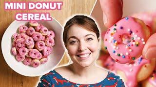 I Tried To Make Mini Donut Cereal • Tasty by Tasty
